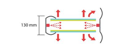 Display + Design LED Leuchtkasten Klappkasten Seitenlicht doppelseitig