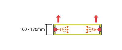 Display + Design LED Leuchtkasten Spannkasten Seitenlicht doppelseitig