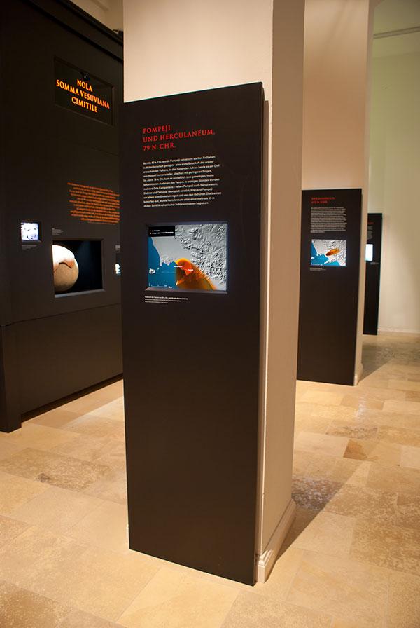 Ein digitales Display in einer Ausstellung