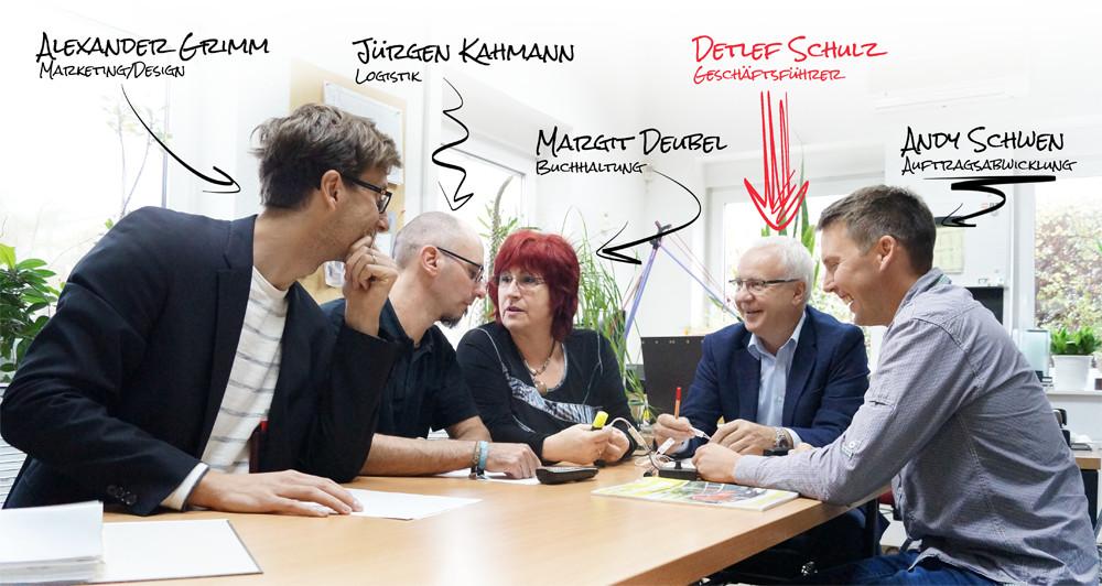 Das Team von Display + Design