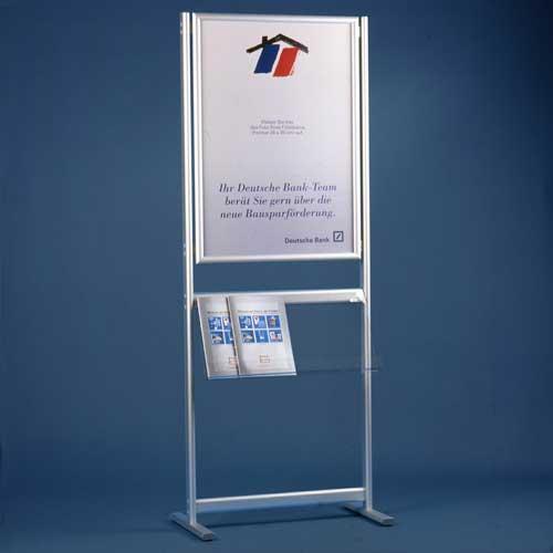 Display + Design Aluminiumdisplay als Standversion