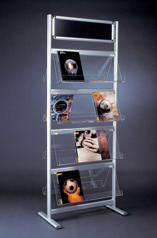 Display + Design Aluminiumdisplay als Prospektständer