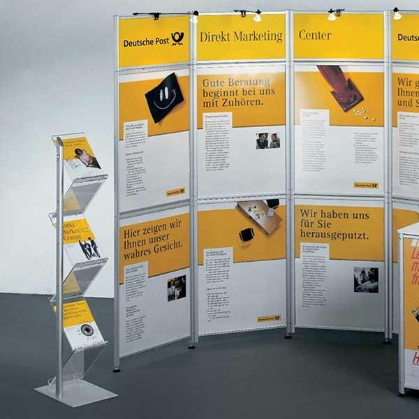 Display + Design Aluminiumdisplay als Präsentationsstand