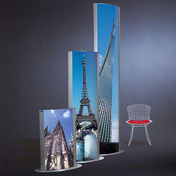 Display + Design Aluminiumdisplay Sonderanfertigung Maxxi Pylon