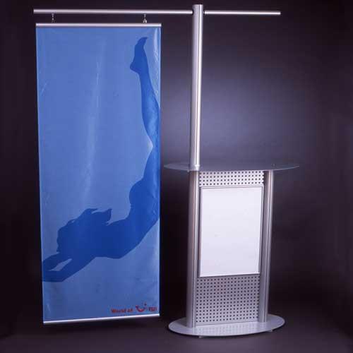 Display + Design Aluminiumdisplay Als Zickzack Ständer