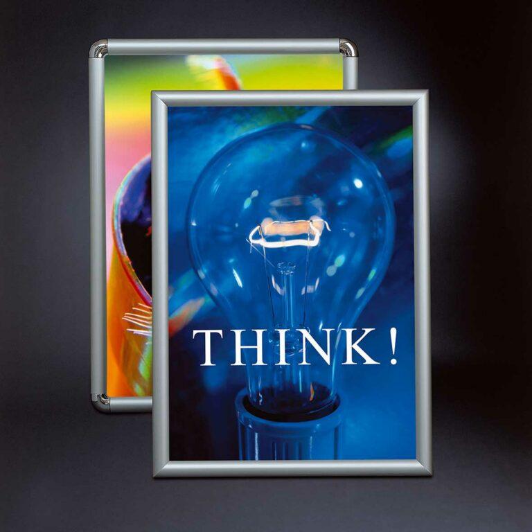 Display + Design Aluminiumdisplay Klapprahmen 25 mm Ultrasoftprofil