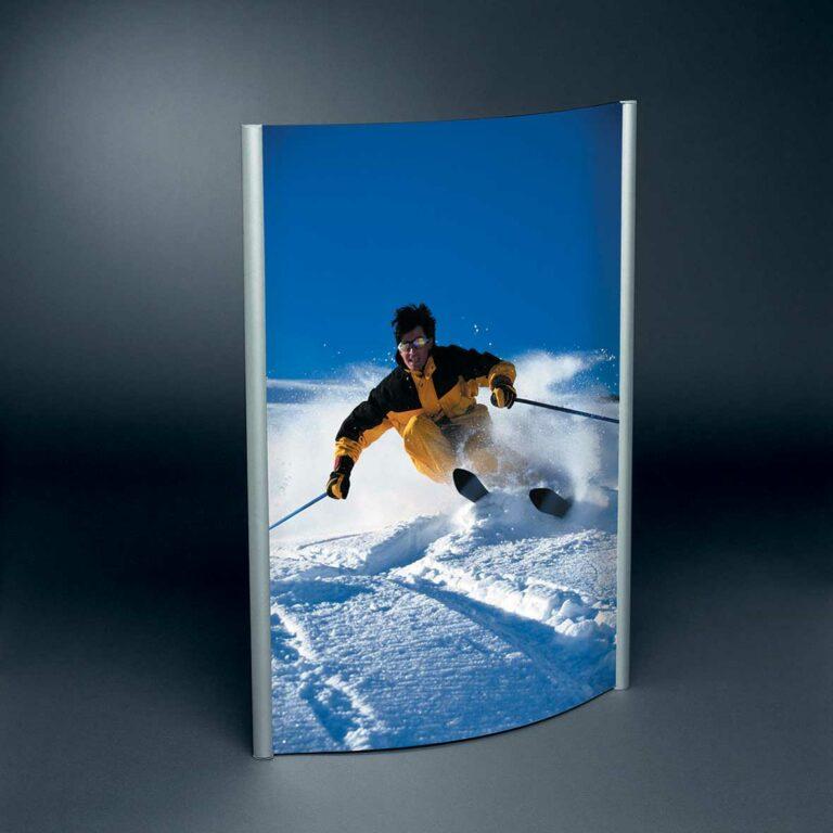 Display + Design Aluminiumdisplay Konvex Rahmen