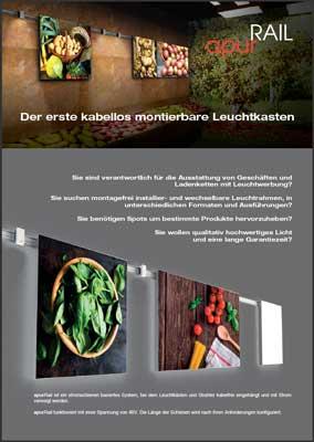 Display + Design Titelblatt apurRail Flyer