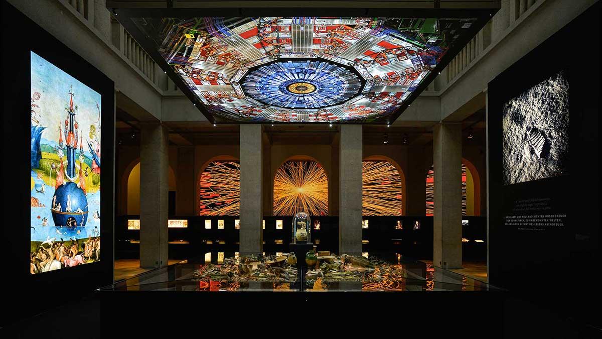 Display + Design LED Leuchten im Landesmuseum Halle