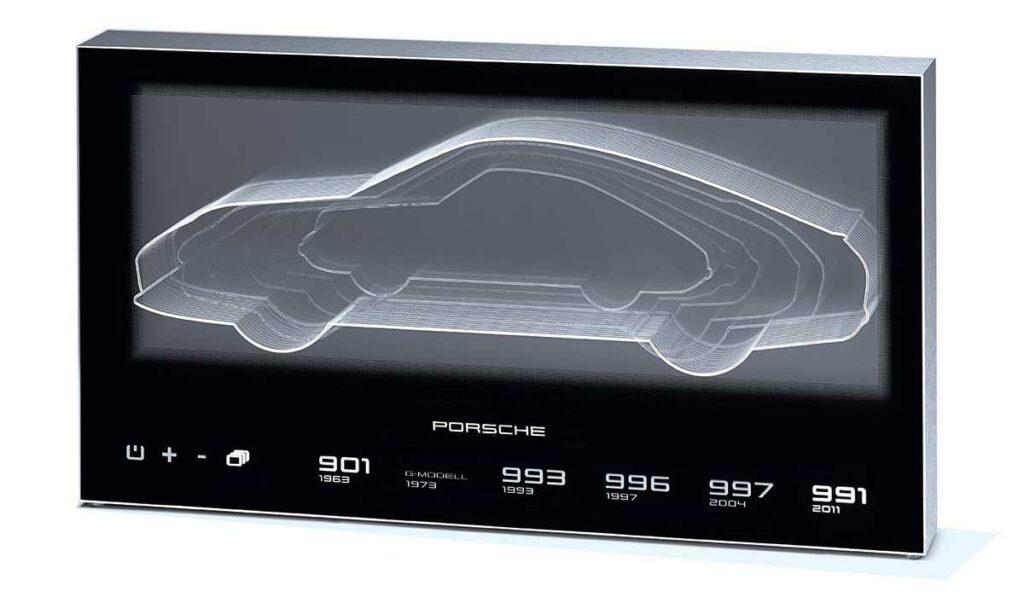 Sonderbau Display im Showroom von Porsche